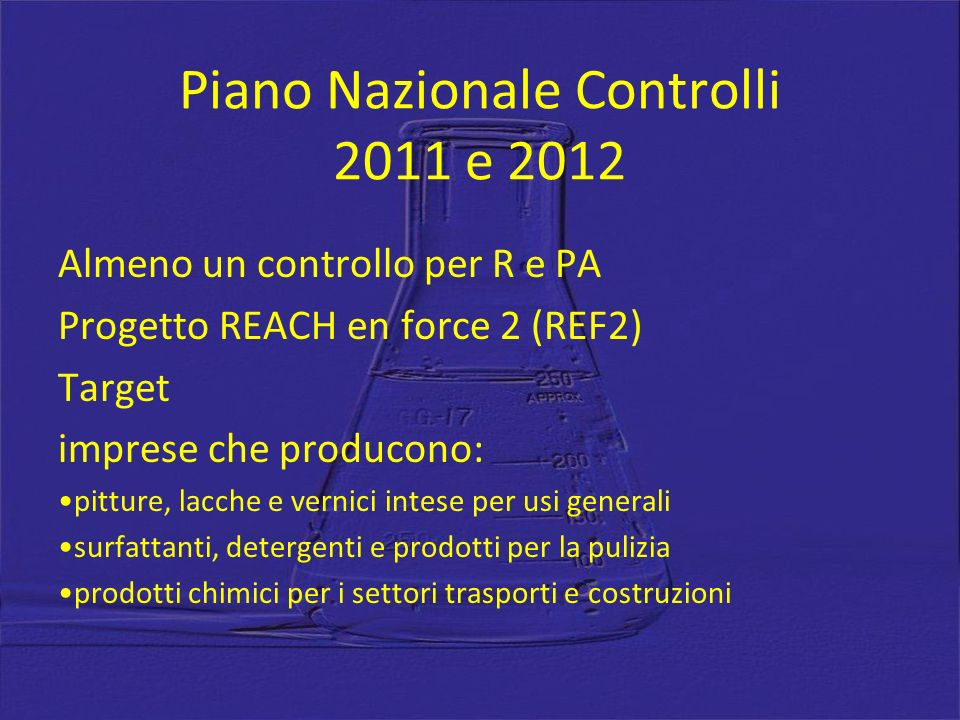Piano Nazionale Controlli 2011 e 2012
