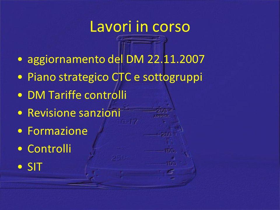 Lavori in corso aggiornamento del DM 22.11.2007