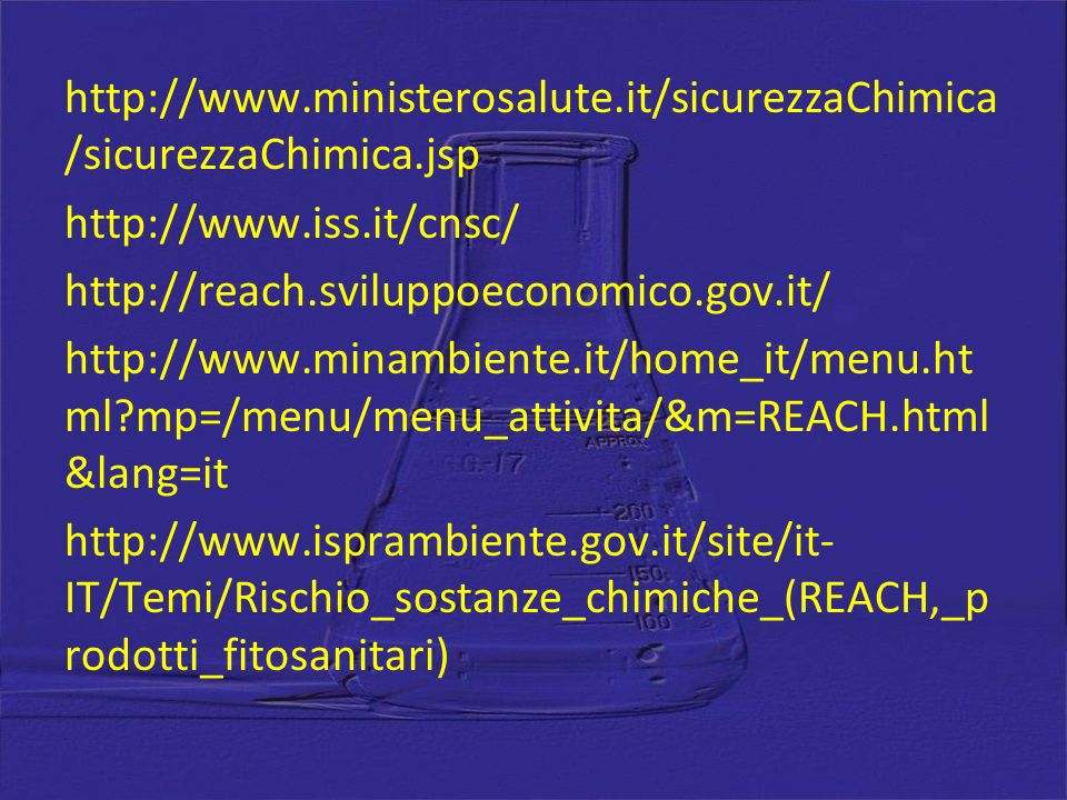 http://www. ministerosalute. it/sicurezzaChimica/sicurezzaChimica