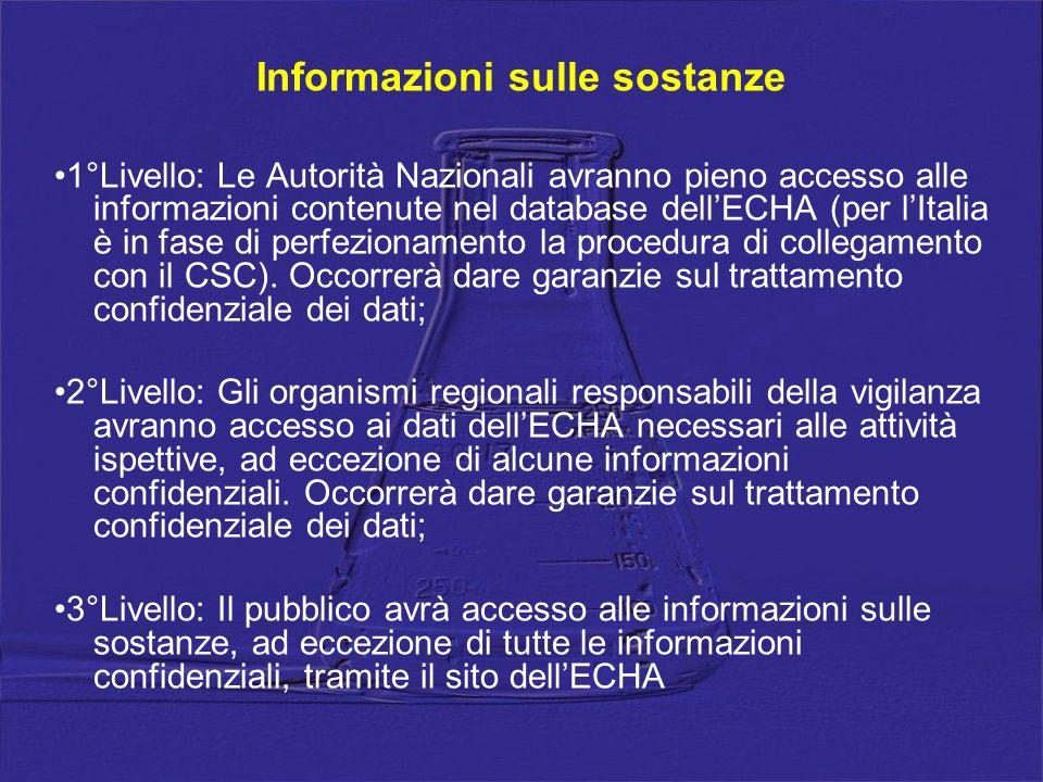 Informazioni sulle sostanze