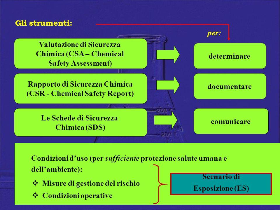 Valutazione di Sicurezza Chimica (CSA – Chemical Safety Assessment)