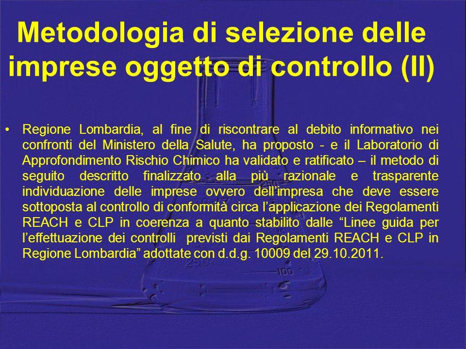 Metodologia di selezione delle imprese oggetto di controllo (II)