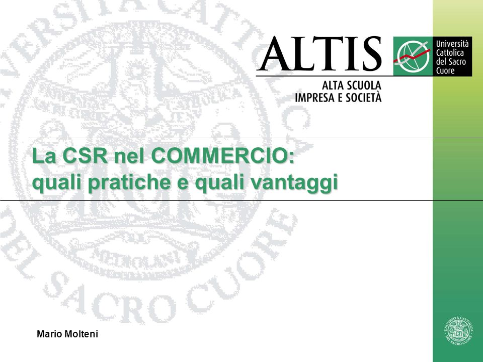 La CSR nel COMMERCIO: quali pratiche e quali vantaggi