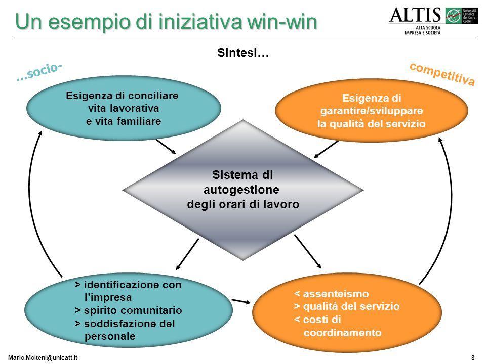 Esigenza di conciliare garantire/sviluppare la qualità del servizio