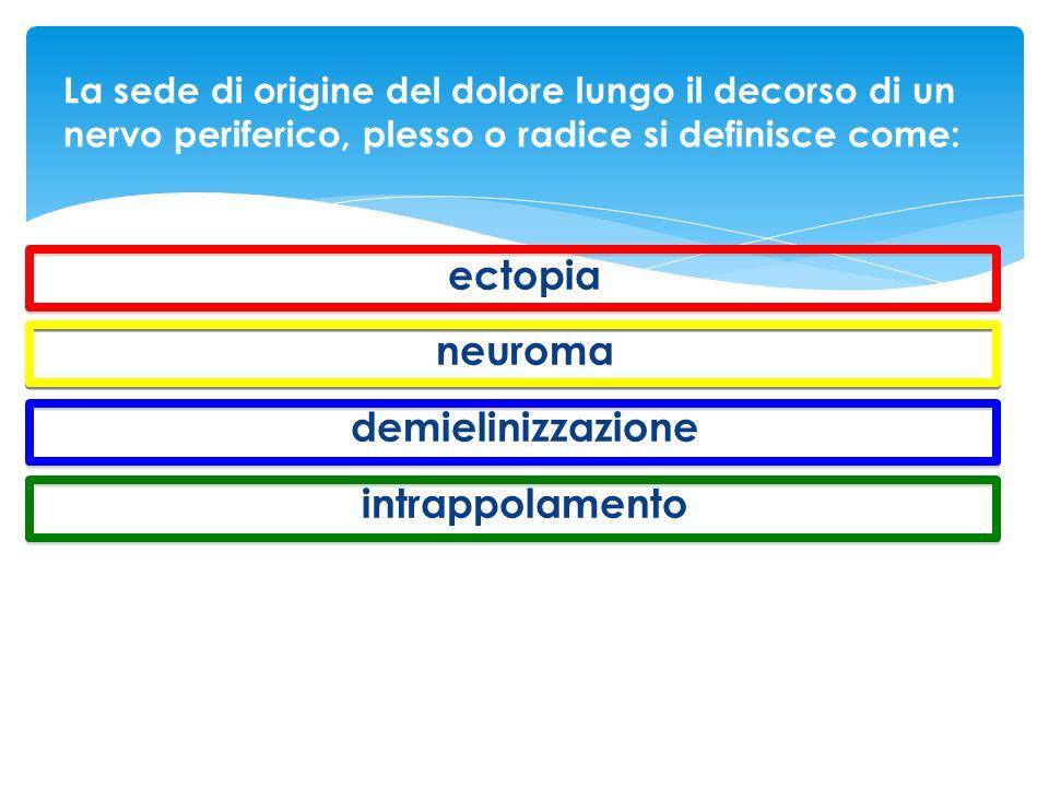 ectopia neuroma demielinizzazione intrappolamento