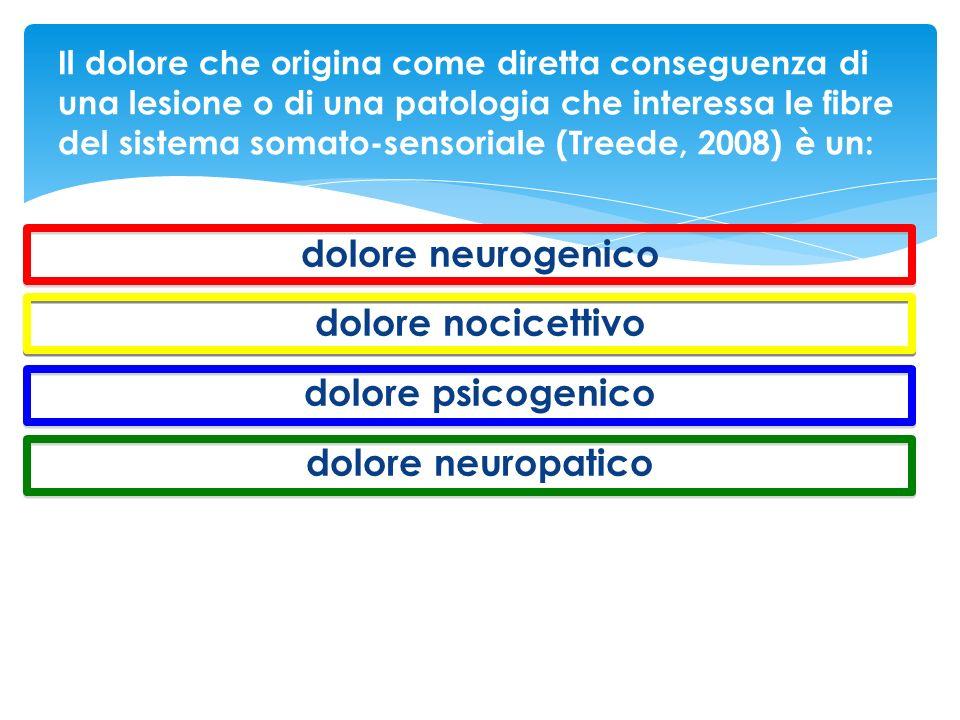 dolore neurogenico dolore nocicettivo dolore psicogenico