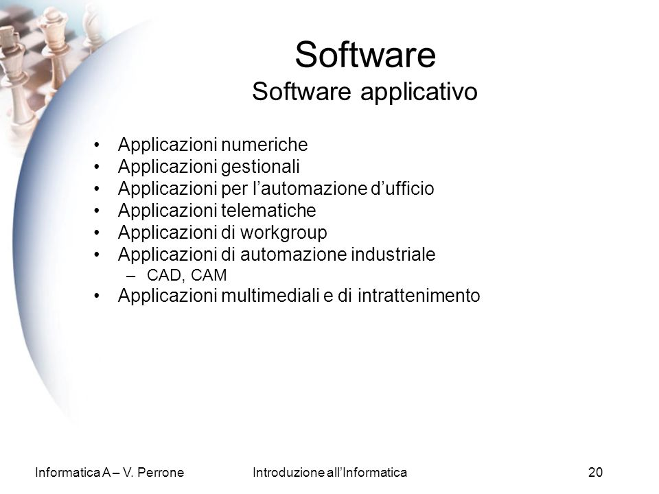 Software Software applicativo