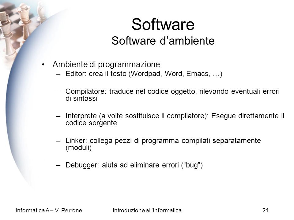 Software Software d'ambiente
