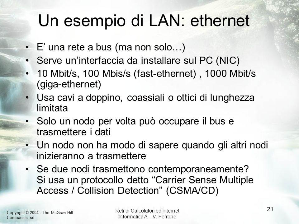 Un esempio di LAN: ethernet