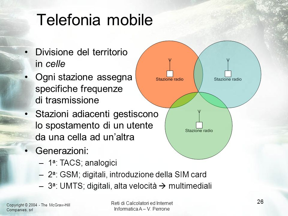 Telefonia mobile Divisione del territorio in celle
