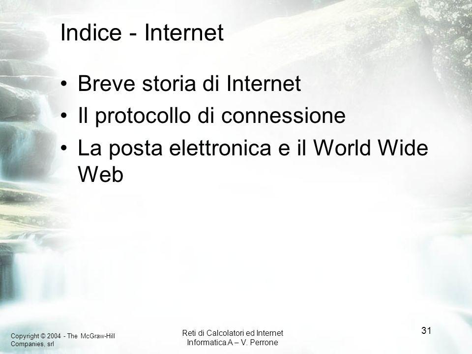 Indice - Internet Breve storia di Internet