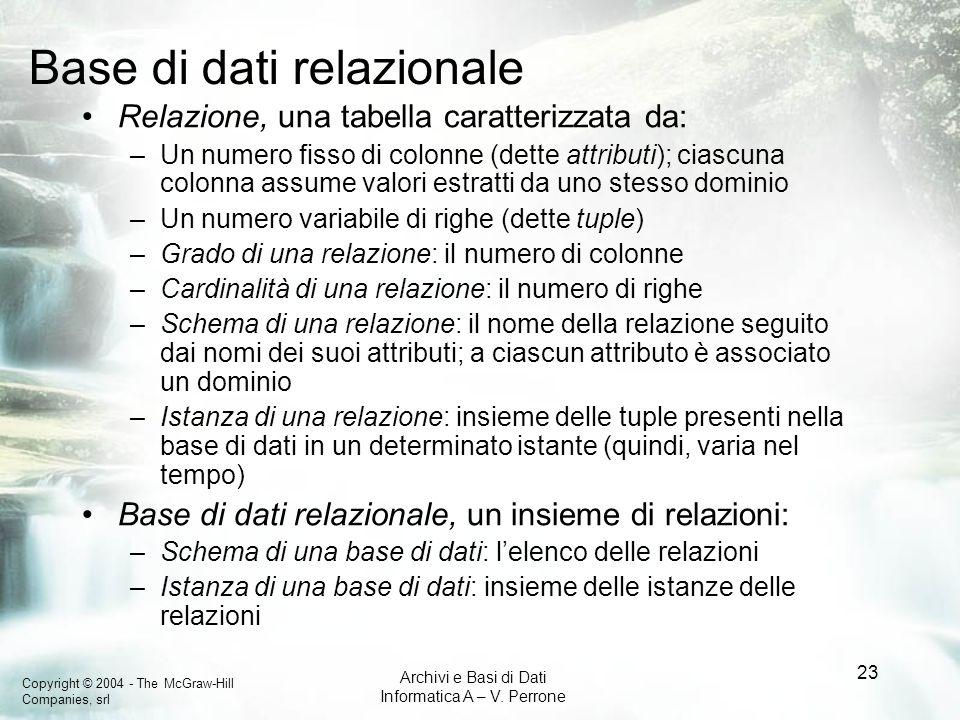 Base di dati relazionale