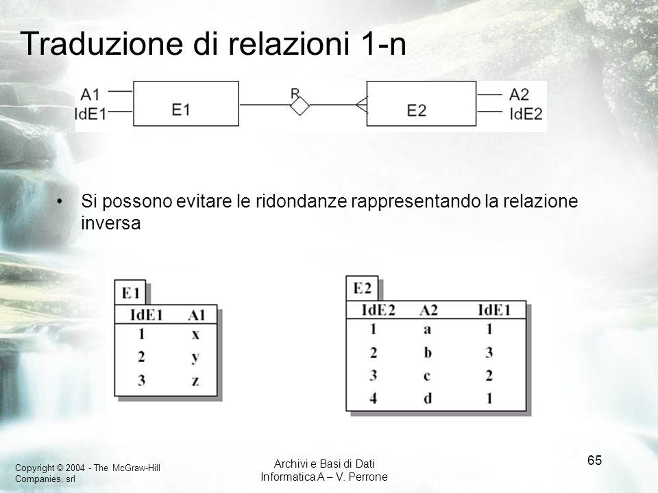 Traduzione di relazioni 1-n