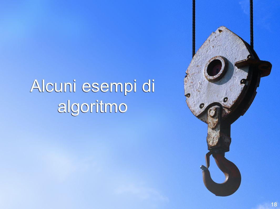 Alcuni esempi di algoritmo