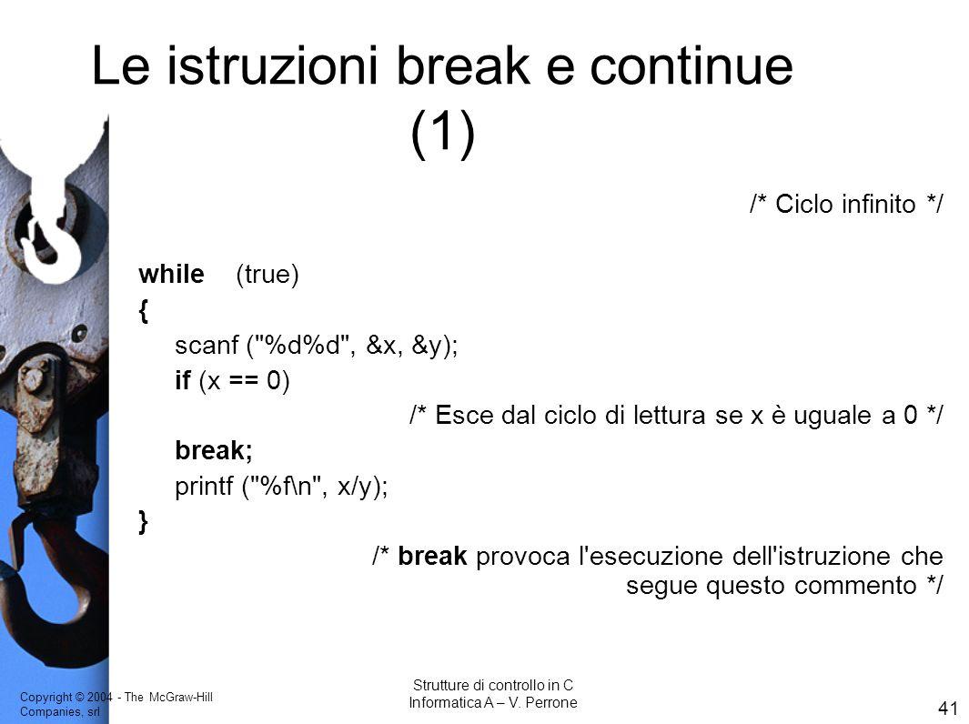 Le istruzioni break e continue (1)