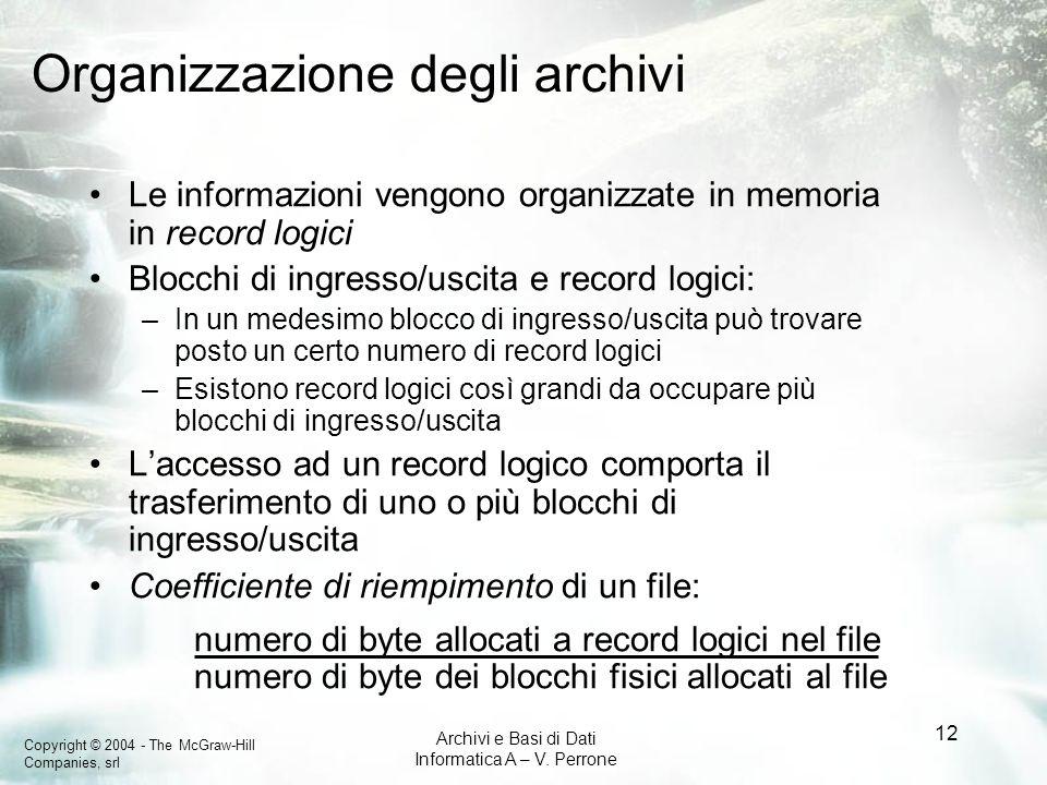 Organizzazione degli archivi