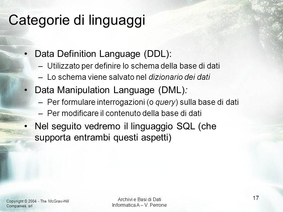 Categorie di linguaggi