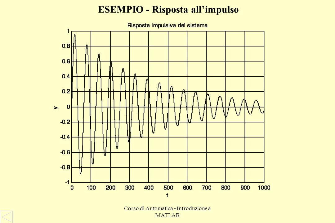 ESEMPIO - Risposta all'impulso