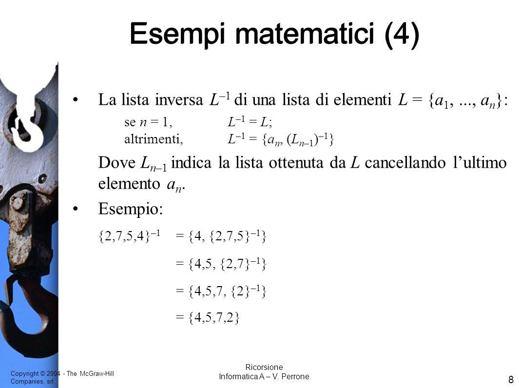 Informatica A – V. Perrone