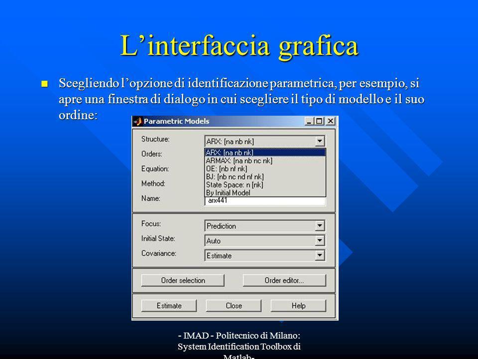 L'interfaccia grafica