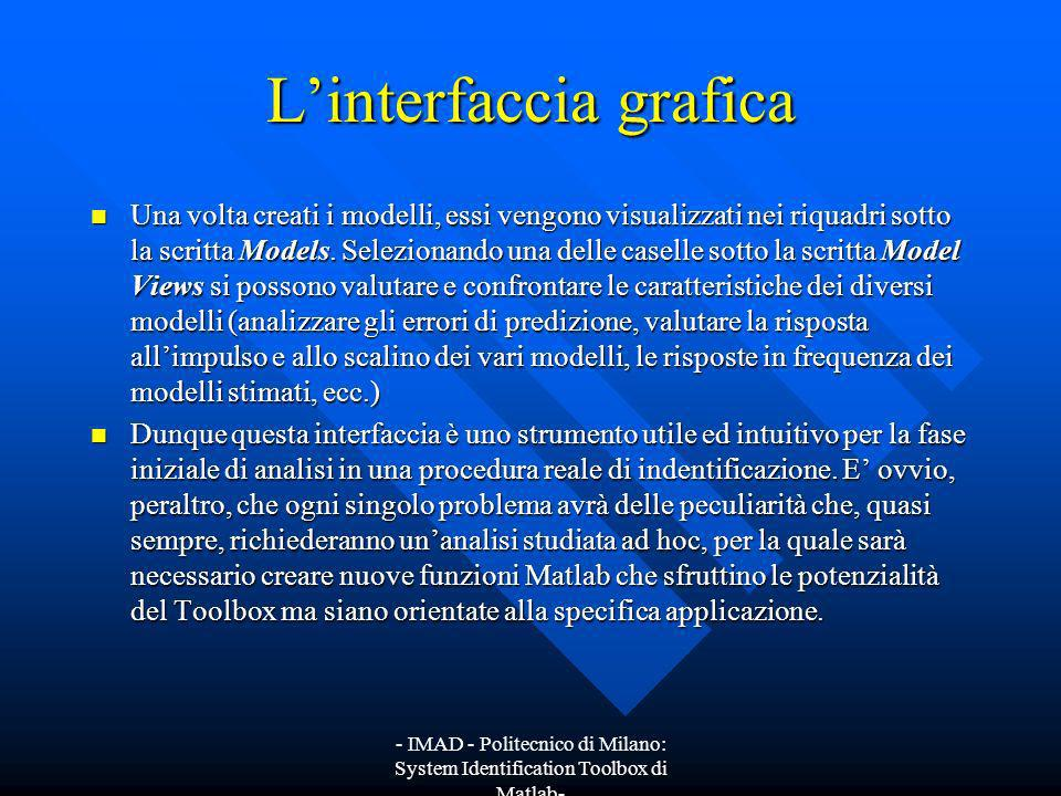 L'interfaccia grafica
