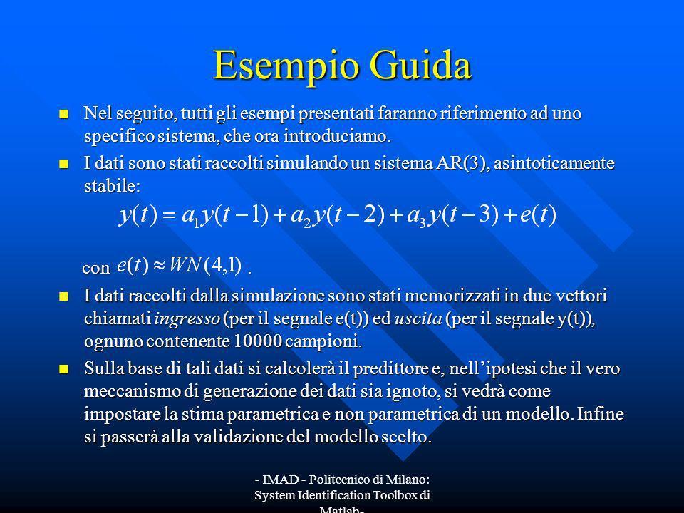 Esempio Guida Nel seguito, tutti gli esempi presentati faranno riferimento ad uno specifico sistema, che ora introduciamo.