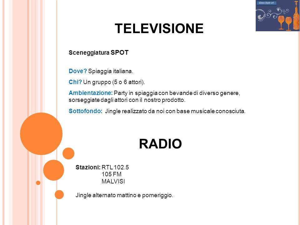 TELEVISIONE RADIO Sceneggiatura SPOT Dove Spiaggia italiana.