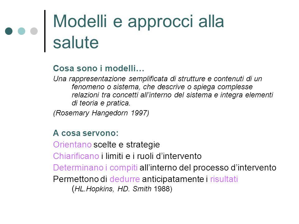 Modelli e approcci alla salute