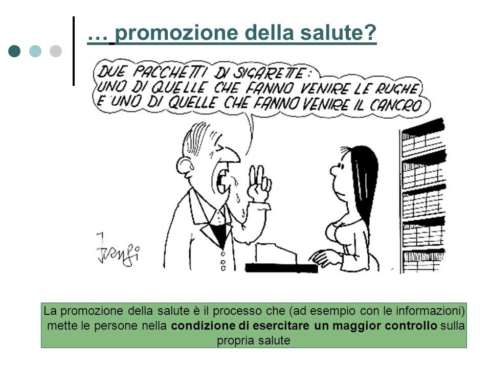… promozione della salute