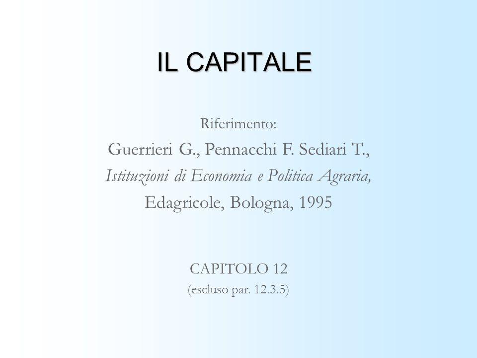IL CAPITALE Guerrieri G., Pennacchi F. Sediari T.,