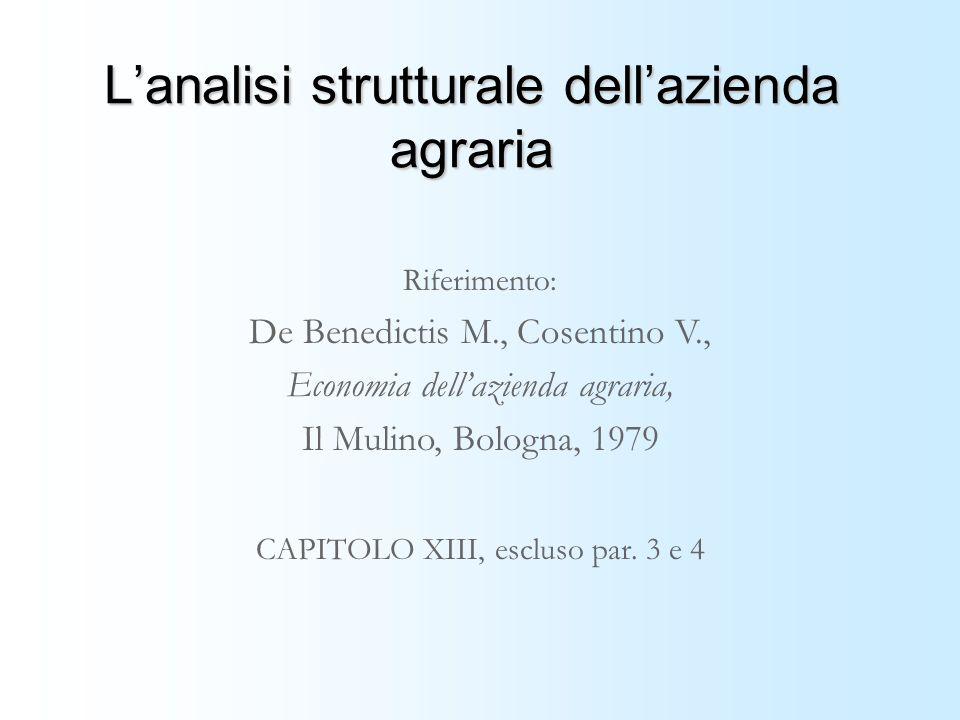 L'analisi strutturale dell'azienda agraria
