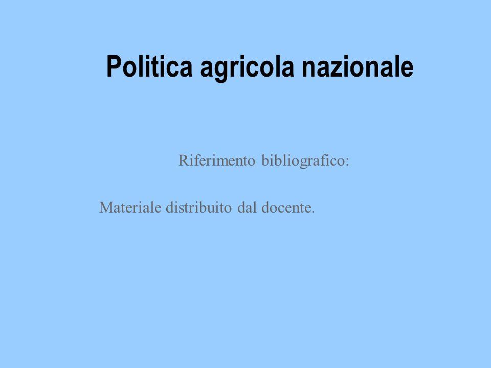 Politica agricola nazionale
