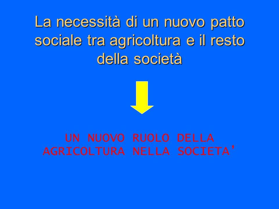 UN NUOVO RUOLO DELLA AGRICOLTURA NELLA SOCIETA'