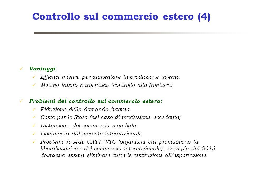 Controllo sul commercio estero (4)