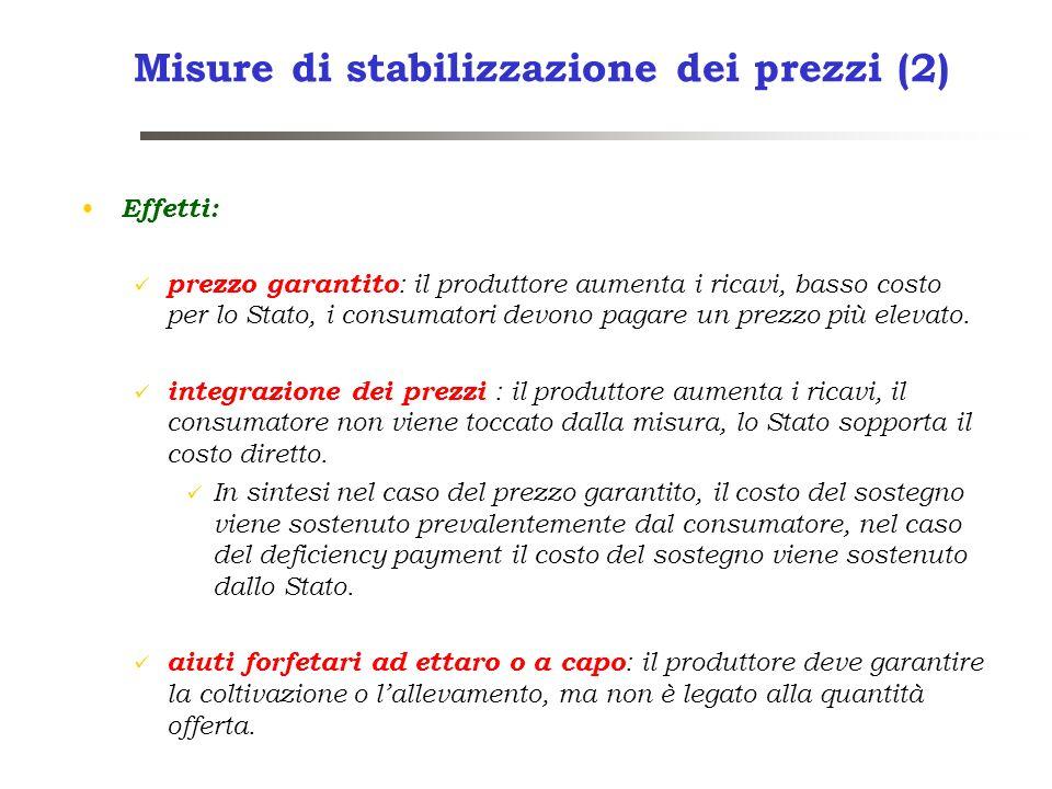 Misure di stabilizzazione dei prezzi (2)