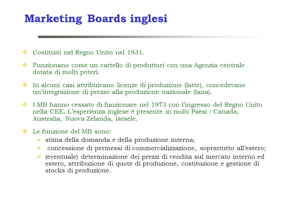 Marketing Boards inglesi