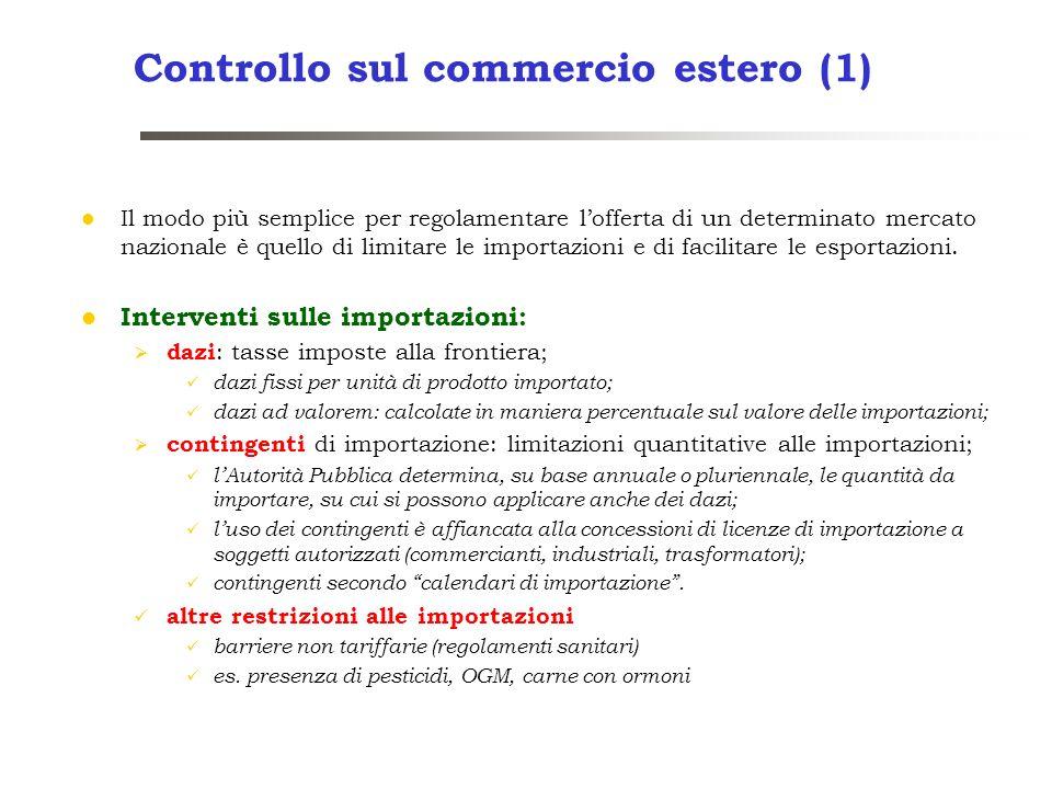 Controllo sul commercio estero (1)