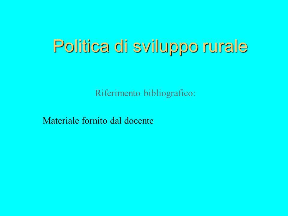 Politica di sviluppo rurale