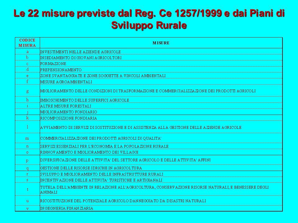 Le 22 misure previste dal Reg