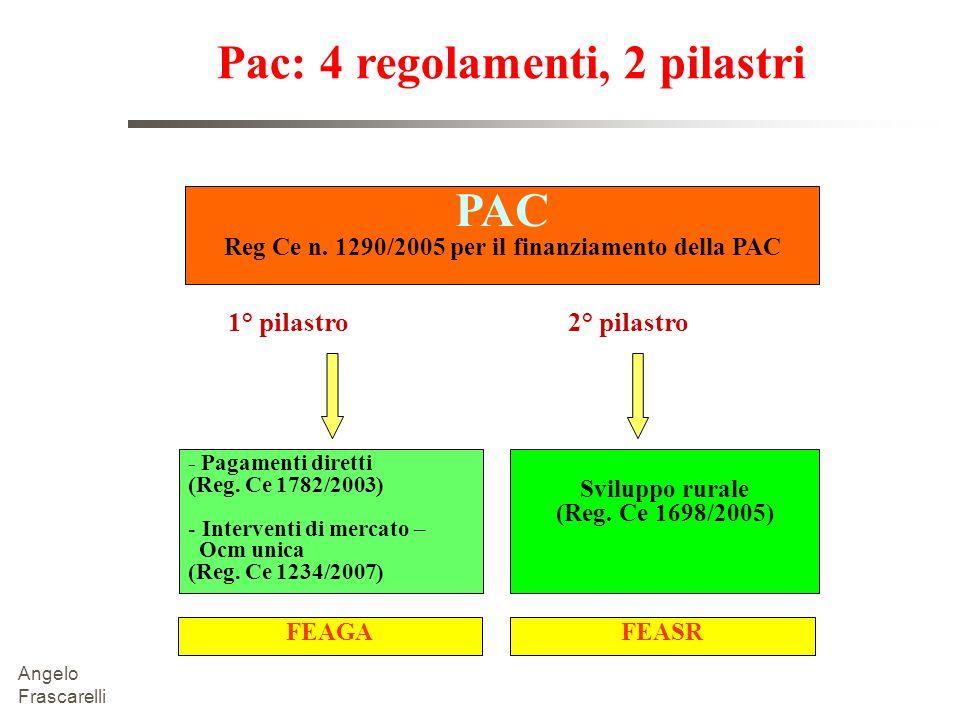 Pac: 4 regolamenti, 2 pilastri PAC