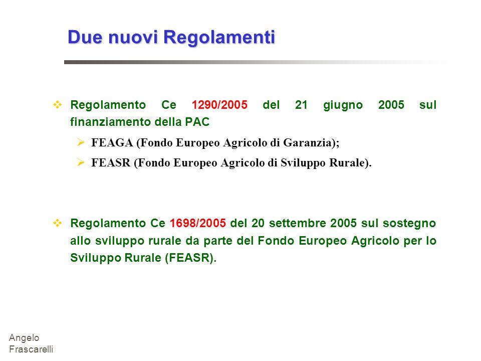 27/03/2017 Due nuovi Regolamenti. Regolamento Ce 1290/2005 del 21 giugno 2005 sul finanziamento della PAC.
