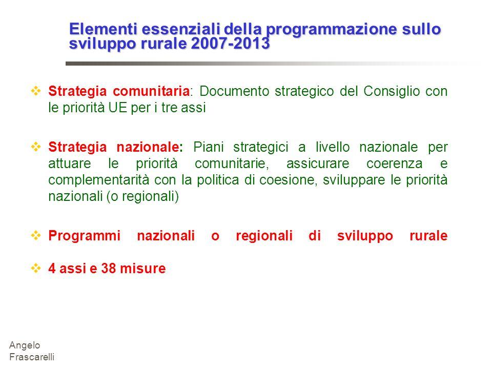 Elementi essenziali della programmazione sullo sviluppo rurale 2007-2013