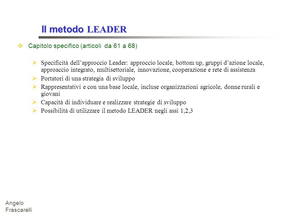 Il metodo LEADER Capitolo specifico (articoli da 61 a 68)