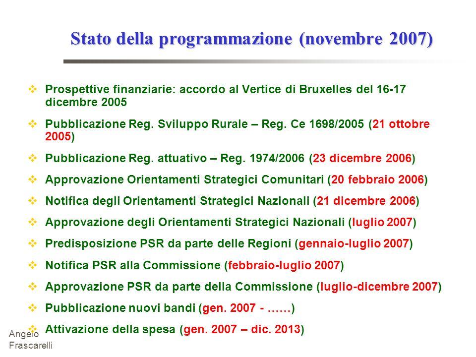 Stato della programmazione (novembre 2007)