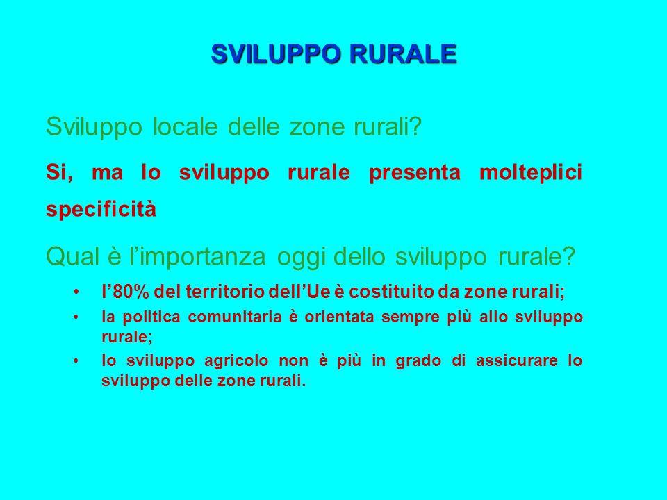 Sviluppo locale delle zone rurali