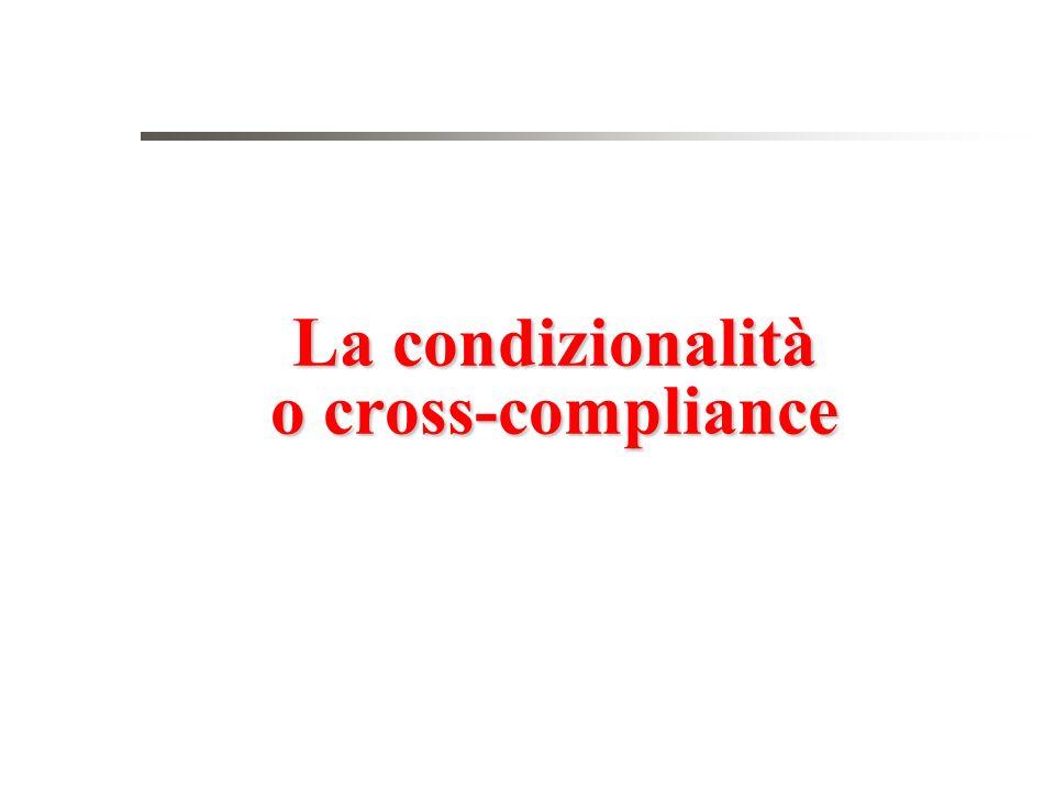 La condizionalità o cross-compliance