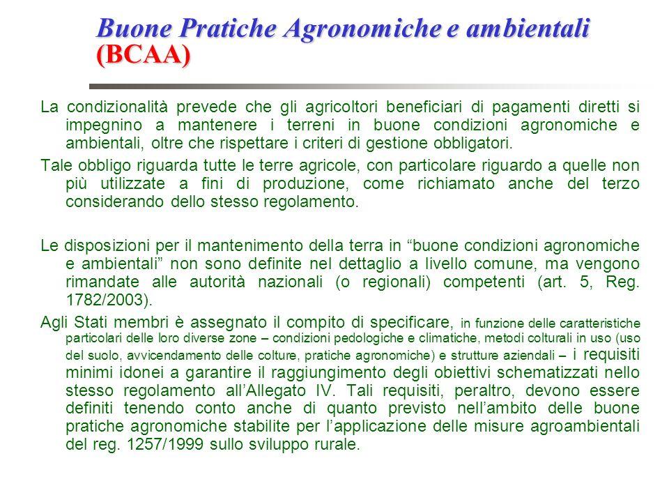 Buone Pratiche Agronomiche e ambientali (BCAA)