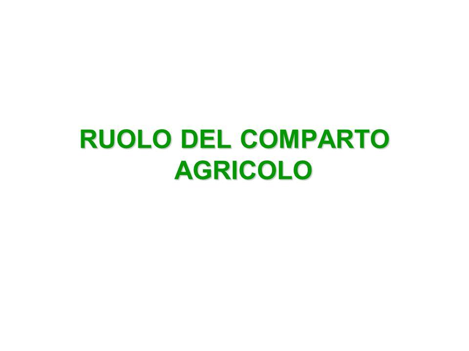 RUOLO DEL COMPARTO AGRICOLO