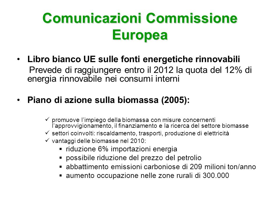 Comunicazioni Commissione Europea