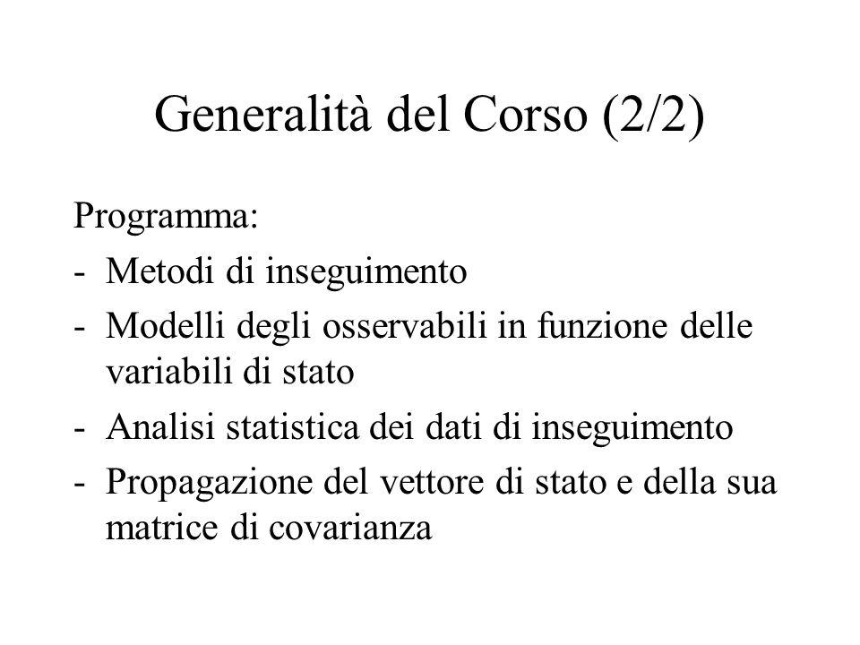 Generalità del Corso (2/2)